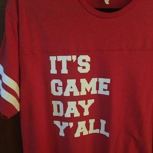 """IT'S GAME DAY Y'ALL"" saying t-shirt"
